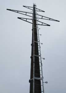 «Россети Ленэнерго» установили инновационные опоры воздушной линии 110 кВ в Кингисеппском районе Ленобласти
