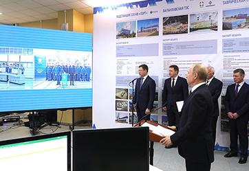 Президент дал старт работе Балаклавской и Таврической ТЭС, а также подстанции «Порт» в Тамани